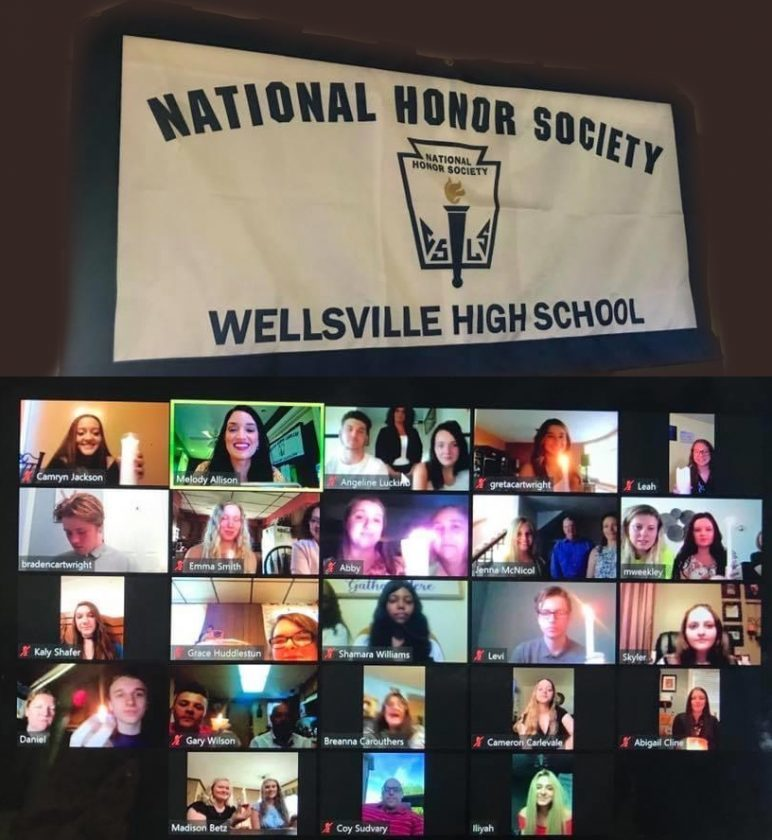 Wellsville inducts National Honor Society members via Zoom